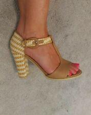 Joe Browns Ladies Shoes Size 4 T Bar Block Heels