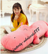 47in. Big Plush Cute Pink Hippo Giant Large Stuffed Plush Toy Doll Pillow gift