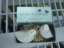 Porcelain Doves salt and pepper shakers new in box