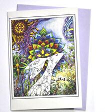 Easter Card The Rainbow Hare birthday card hippy tribal gypsy Goddess
