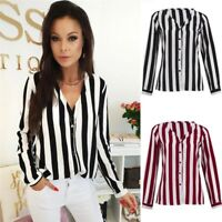 New Blouse Women Casual Striped Top Shirts Blouses Female Loose Office Blouses