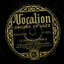 Johnny Dodds Trio Clarinet Wobble/OH Lizzie gomma lacca PIASTRA 78rpm x2201