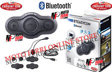 INTERFONO UNIVERSALE CASCO MOTO CELLULAR LINE BTEASY BLUETOOTH  AURICOLARI