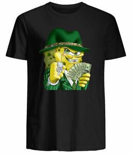 Gangster Spongebob T Shirt Funny Gift Classic Fit Cotton Unisex Black