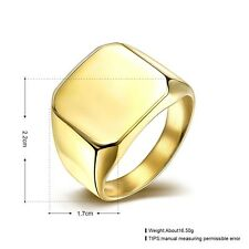 Men's Ring 316L titanium steel 18k Yellow Gold Filled Jewelry Size 7 8 9 10