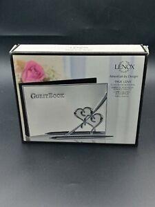 Lenox True Love Guestbook With Pen Silverplate Wedding Shower