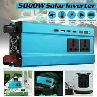 5000W DC 12V à AC 220V Solaire pur sinus Inverter  Onduleur Convertisseur 4USB