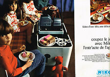 PUBLICITE ADVERTISING 064  1970  MIKO   glaces  MALAGA   ( 2 pages)