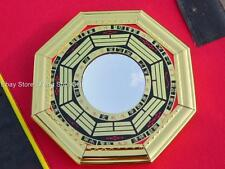 """4.8"""" Chinese Oriental Protection Feng Shui Home House Gold Bagua Mirror CONCAVE"""
