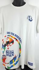 FIFA 2010 World Cup South Africa T Shirt Large White Soccer Futbol I1