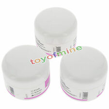 3X Pro Acrylic Nail Art Tips Crystal Polymer Builder Powder White Pink Clear