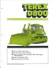 Equipment Brochure - Terex - D800 - Crawler Tractor - 1982 (E3862)