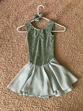 Mint Green sleeveless Figure skating dress