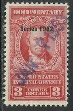 U.S. Revenue Documentary stamp scott r605 - $3.00 issue of 1952