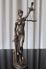 Justitia Figur Deko 42cm Bronze Göttin Recht Anwalt Rechtsanwalt Geschenk Notar