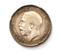 1915 Great Britain Silver One Shilling Coin KM# 816