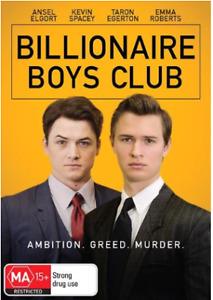 Billionaire boys club (DVD 2018) Australian stock