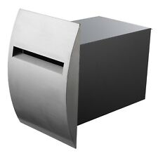 Sandleford QUARTZ FENCE MAILBOX A4 Mail Stainless Steel Curved Faceplate 380mm