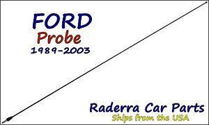 "1989-2003 Ford Probe - 32"" Black Stainless AM FM Antenna Mast"