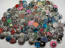 Wholesale 100pcs Lots Mix Style Ginger Charm 18mm Snaps Button Fit Snap Jewelry