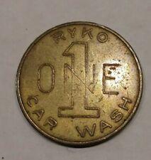 Rjkstamps VINTAGE RYKO 1 ONE CAR WASH TOKEN COIN. larger than us quarter.