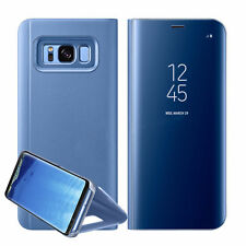 New Samsung Galaxy S7 S8+ Note 8 Smart View Mirror Leather Flip Stand Case Cover