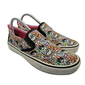 Bobs From Skechers Memory Foam Womens 7.5 Cat All Over Print Slip On Shoes