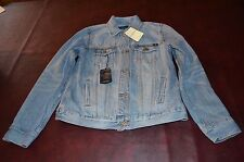 NWT MSRP $148 Women's Lucky Brand Denim Jean Blue  Jacket Stitched Back Size XS