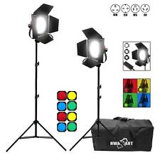 LED Redhead Dimmable 650W Continuous Spotlight Studio Light Stand Gels Kit UK