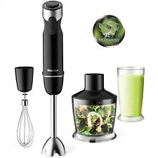 Hand Blenders with 500ml Food Processor, Electric Hand Whisk and 600ml Beaker