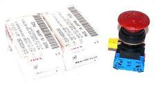 2 NEW IDEC HW1B-V411-TK1890 RED PUSHBUTTONS HW1BV411TK1890