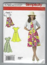 NEW SIMPLICITY 1797 MISSES DRESS & JACKET PATTERN SZ 6 - 14 UNCUT