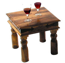 Indian Solid Sheesham Wood -Small Square- Coffee Table/Lamp Side Table