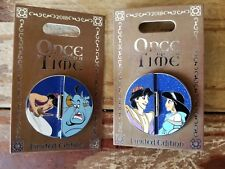 Disney Pin of the Month Once Upon a Time Aladdin Genie Princess Jasmine LE 2000