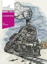 Locomotives Anita Goodesign embroidery machine designs Cd New