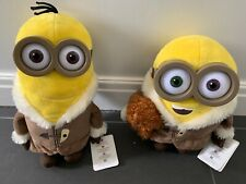 Ice Village Minions- Kevin & Bob with Bear Plush Minions Movie LIMITED EDITION