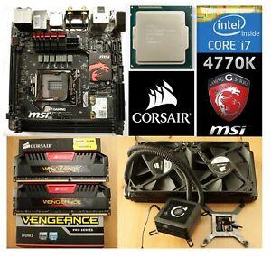BUNDLE - i7 4770k Corsair 16gb MSI Z87i Gaming Motherboard H100 Water Cooled