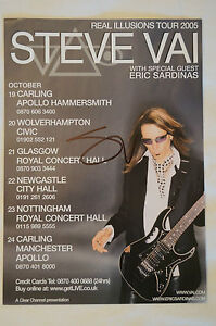 STEVE VAI - Real Illusions Tour Flyer - Personally signed by Steve Vai w/ COA