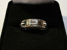 Silver Plated 5mm Spinner Ring Size 7.5 SP2
