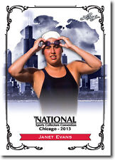 JANET EVANS - 2013 Leaf National Convention PROMO  Olympic Swimming Card