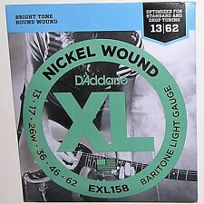 D'Addario EXL158. Nickel Wound XL Bright. Baritone Guitar Strings .013 to .062