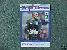 2005 Free Lions Fanzine Issue 48 Wales v England  MINT