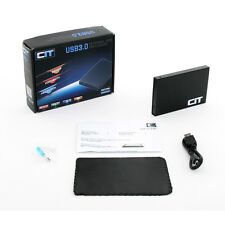"Cit USB 3.0 2.5"" External Enclosure With Sleeve And Cables New Faster Model"
