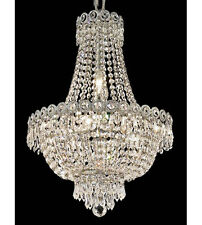 Palace Empire 8 Light Crystal Chandelier  Ceiling Light Chrome 16x20