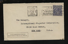 Australia cover to Us 1937 Mm0525