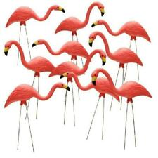 10 Pack Pink Flamingo Yard Statue Outdoor Lawn Decor Garden Durable Art Ornament