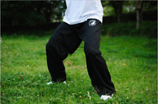 Black Cotton Tai Chi Kung Fu Pants Martial Arts Wing Chun Training Pants