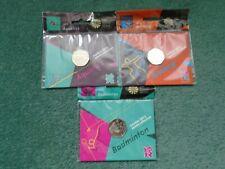 London 2012 Olympics Three 50p's Aquatics, Archery, & Badminton. in original bag
