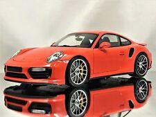Minichamps Porsche 911 (991 II) MKII Turbo S 2016 Lava Orange Model Car 1:18