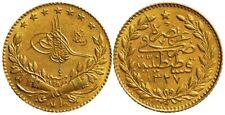 Turkey. 1912 Muhamed V 25 Kurush Gold AH 1327/ year 4 Reverse Die Crack Error